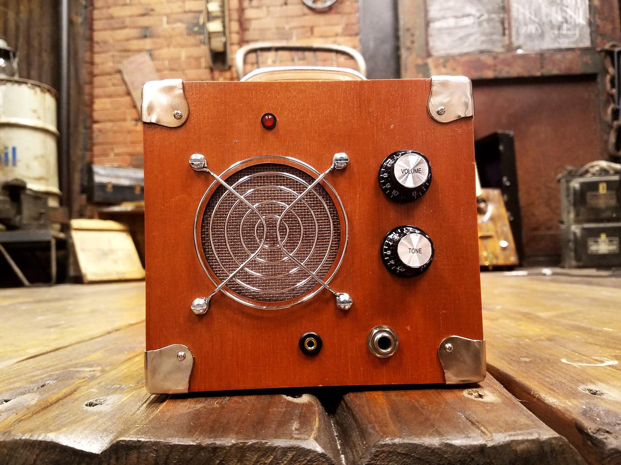 medium resolution of cigar box guitar dual input amplifier solid wood acid box model 5