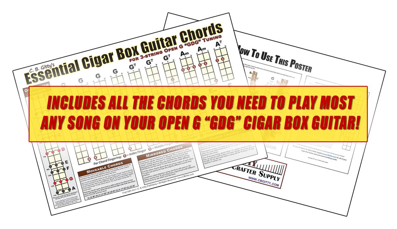 open g gdg essential cigar box guitar chords poster [ 1280 x 738 Pixel ]