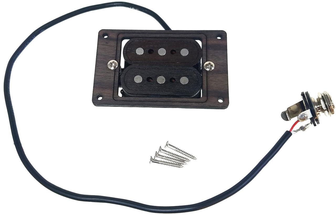 medium resolution of deltabucker 3 string rosewood cigar box guitar humbucker pickup pre cigar box guitar complete wiring harness with pickup no soldering
