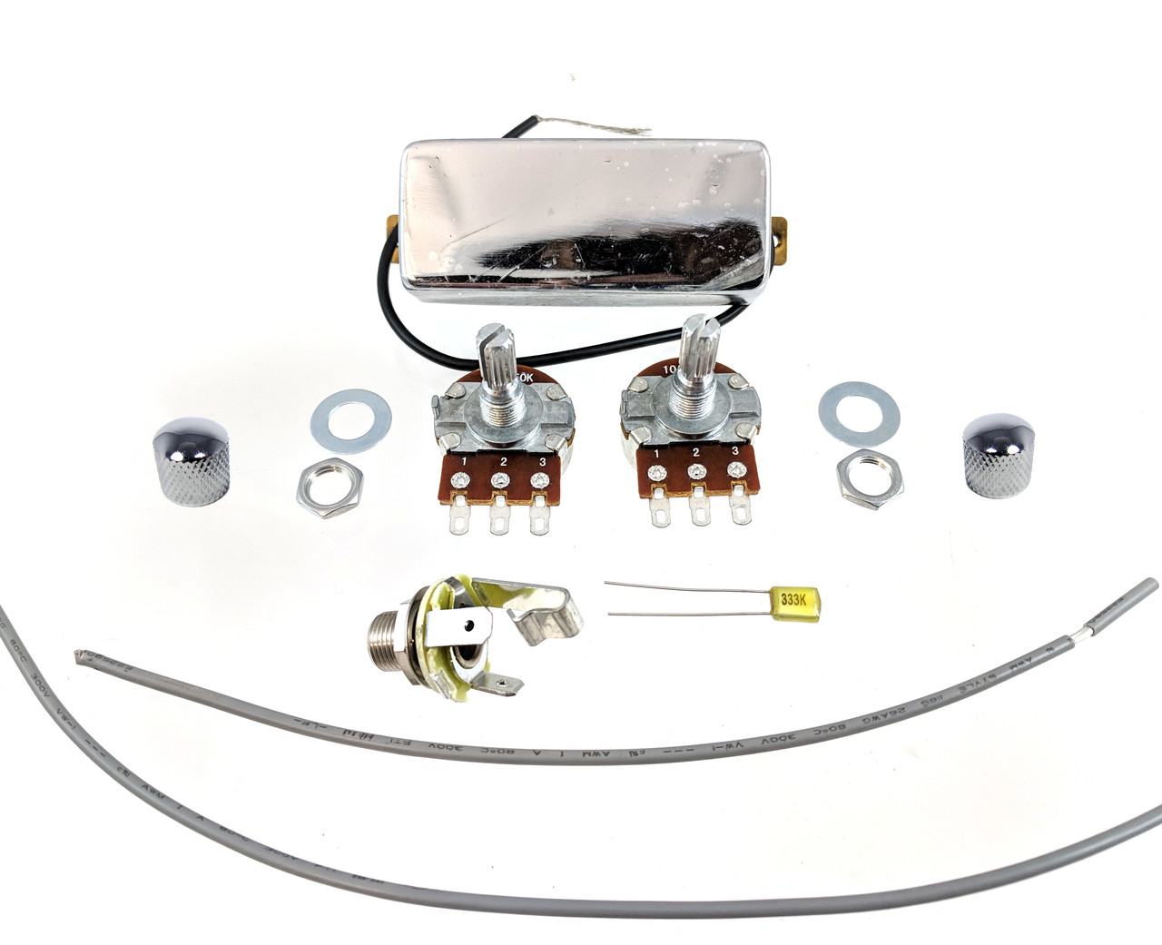 small resolution of  snake oil mini humbucker diy pickup harness wiring kit choose your color