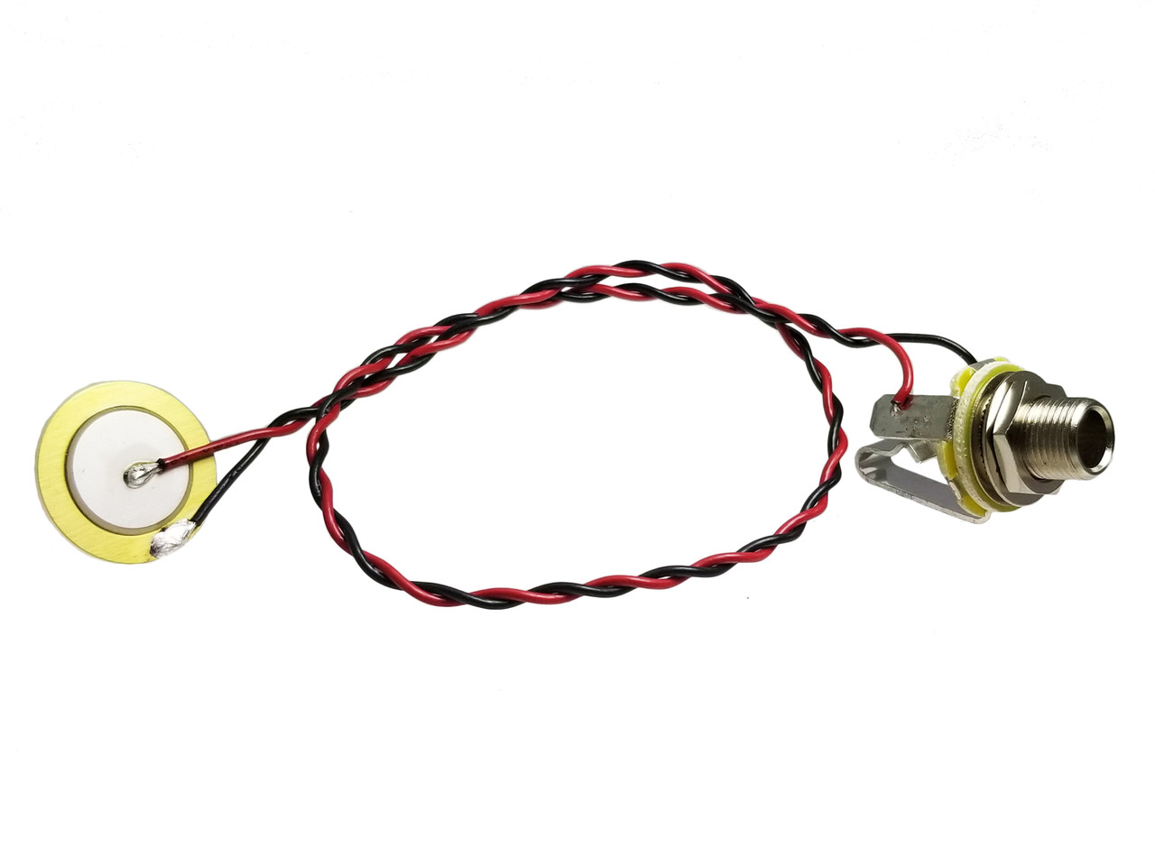 hight resolution of basic pre wired piezo jack harness with shielded cable c b gitty crafter supply