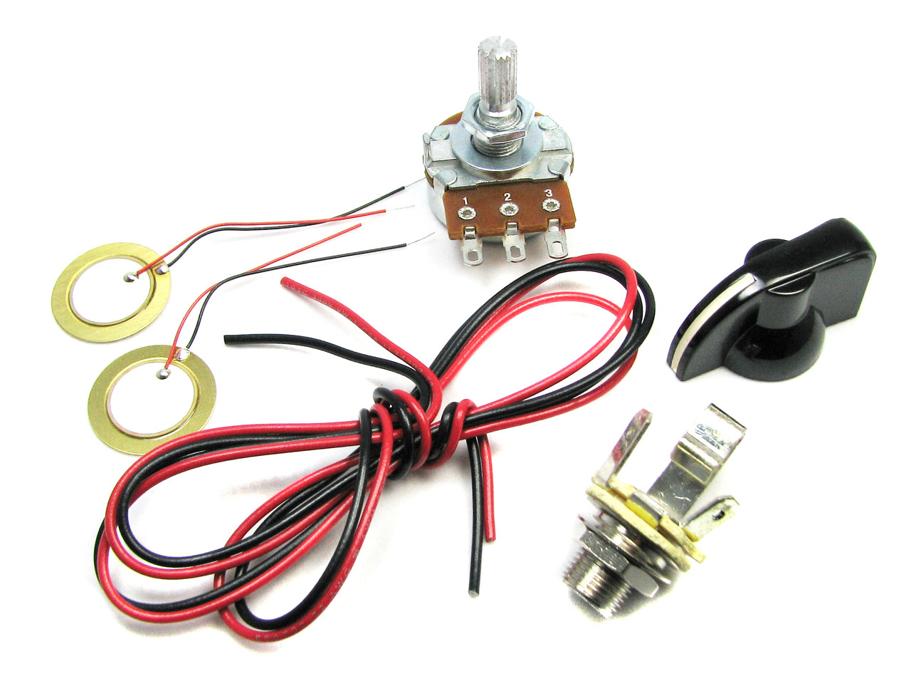small resolution of basic piezo pickup kit for cigar box guitar instructions included