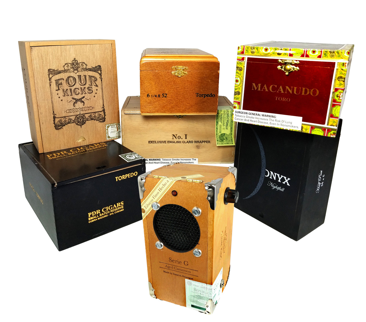 cigar box guitar amplifier kit with all wood box pre wired leads  [ 1280 x 1128 Pixel ]