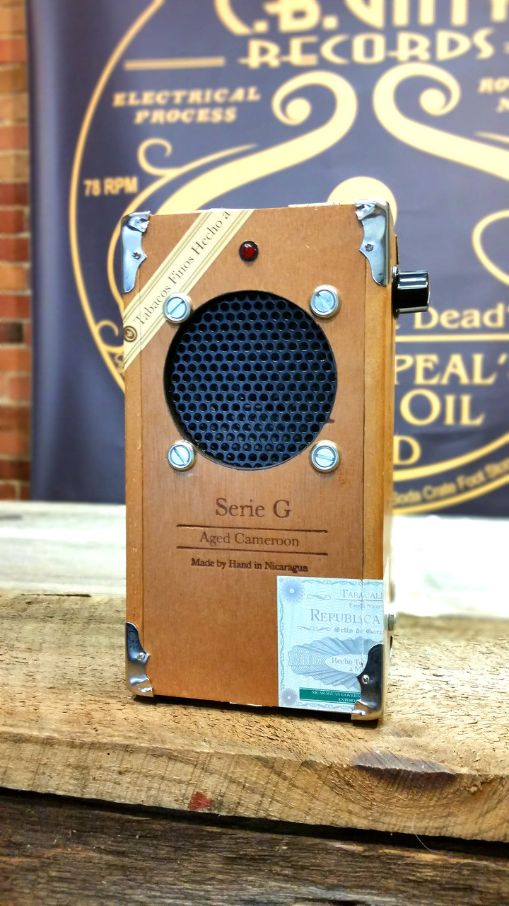 cigar box guitar amplifier kit with all wood box pre wired leads  [ 720 x 1280 Pixel ]