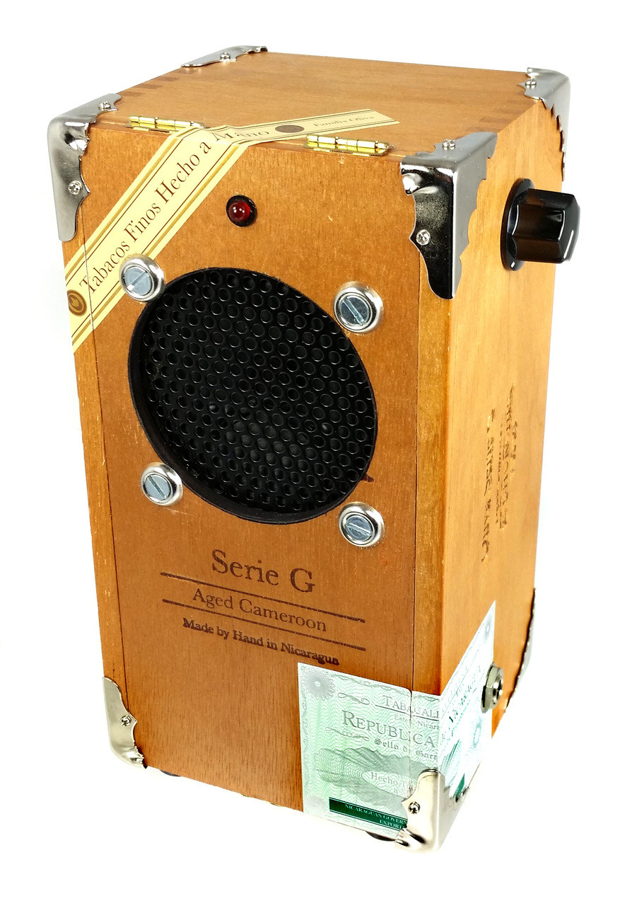 cigar box guitar amplifier kit with all wood box pre wired leads  [ 901 x 1280 Pixel ]