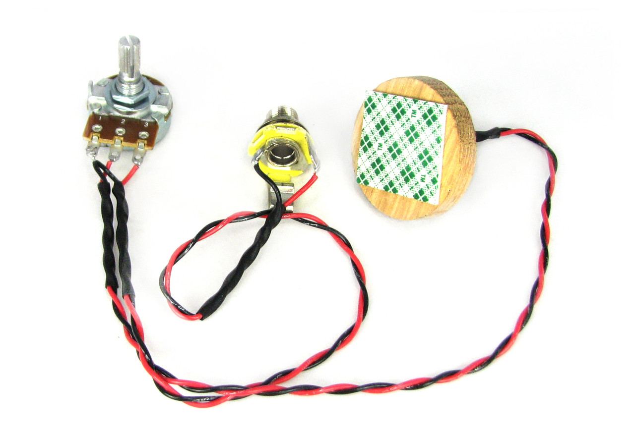 small resolution of c b gitty s disc o tone standard piezo pickup harness for cigar