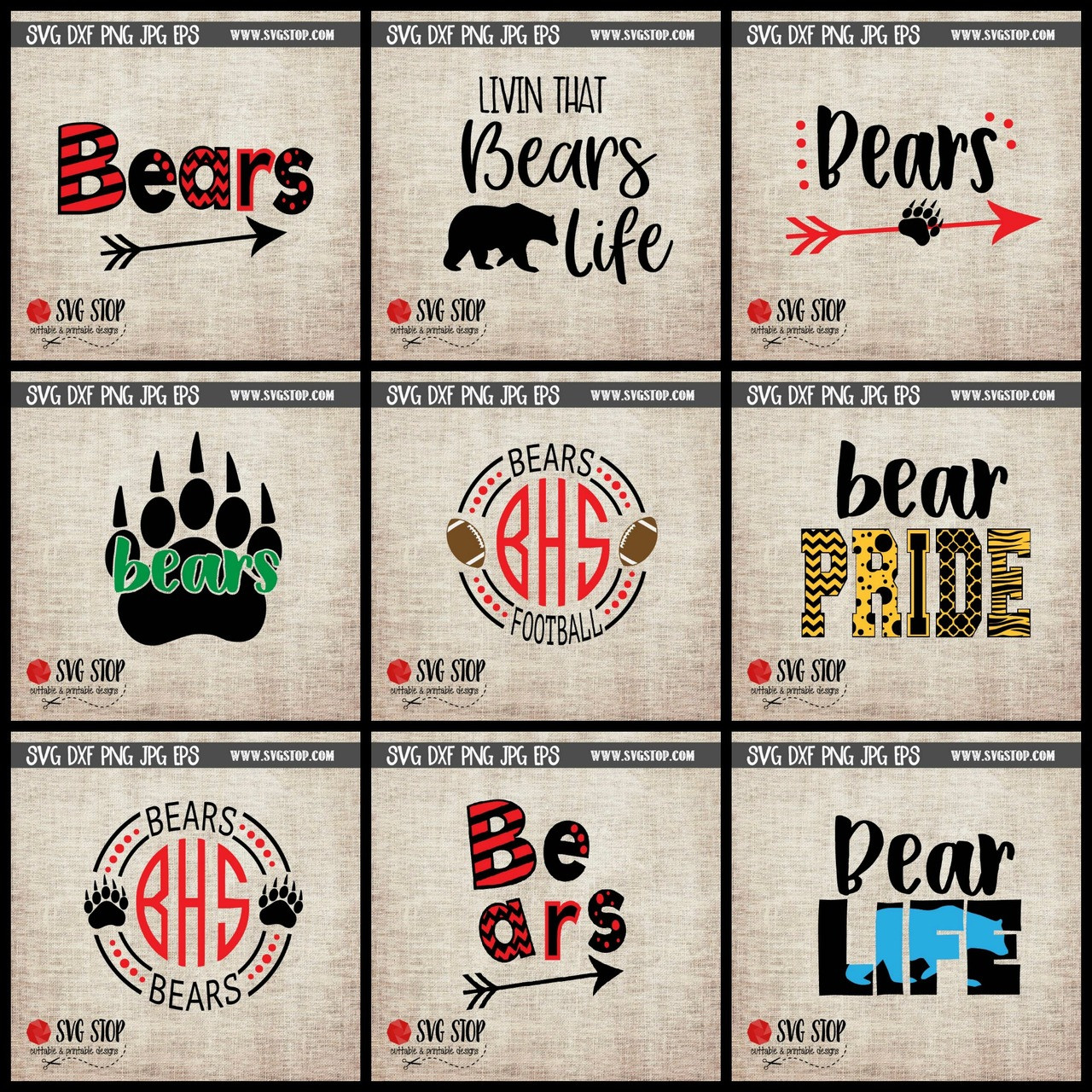 hight resolution of bear mascot clipart cut file svg