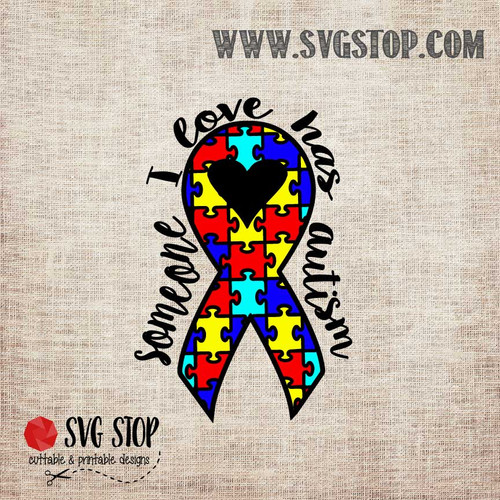 Download Autism Awareness Butterfly Ribbon Cut File   The SVG Stop
