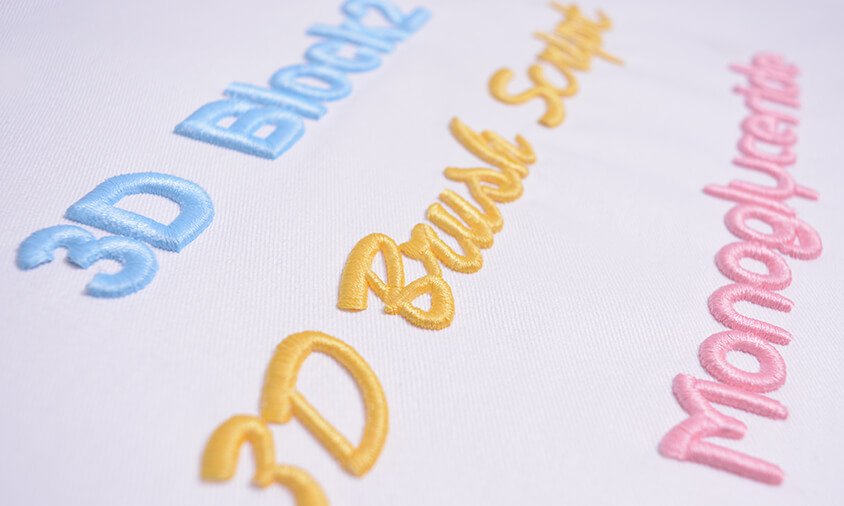 Download Font Pack #6 - 3D Puffy Foam - Hatch Embroidery