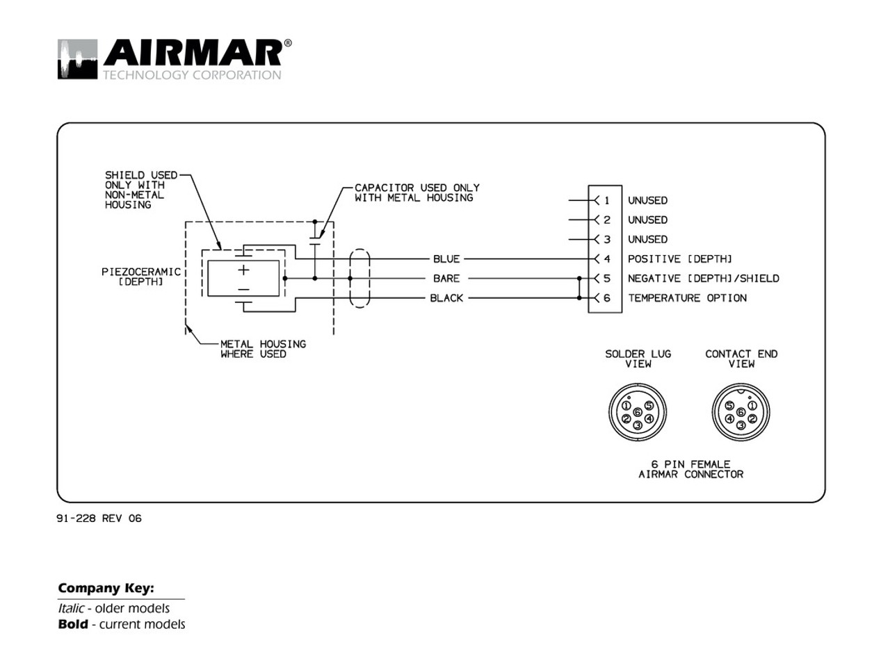 Airmar Wiring Diagram Garmin 6 pin (D) | Blue Bottle Marine