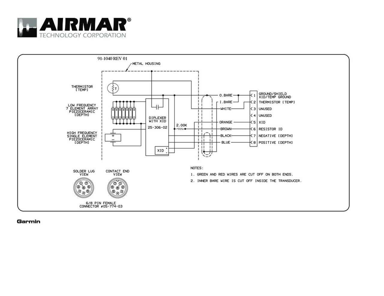 garmin 4 pin transducer wiring diagram 2002 jeep liberty 8 all airmar 1kw d t blue bottle marine connector