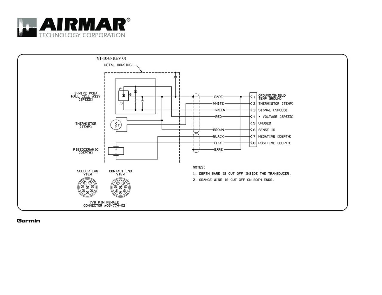 medium resolution of depth speed temperature b744v vl 600w transducers with garmin 8 pin connector