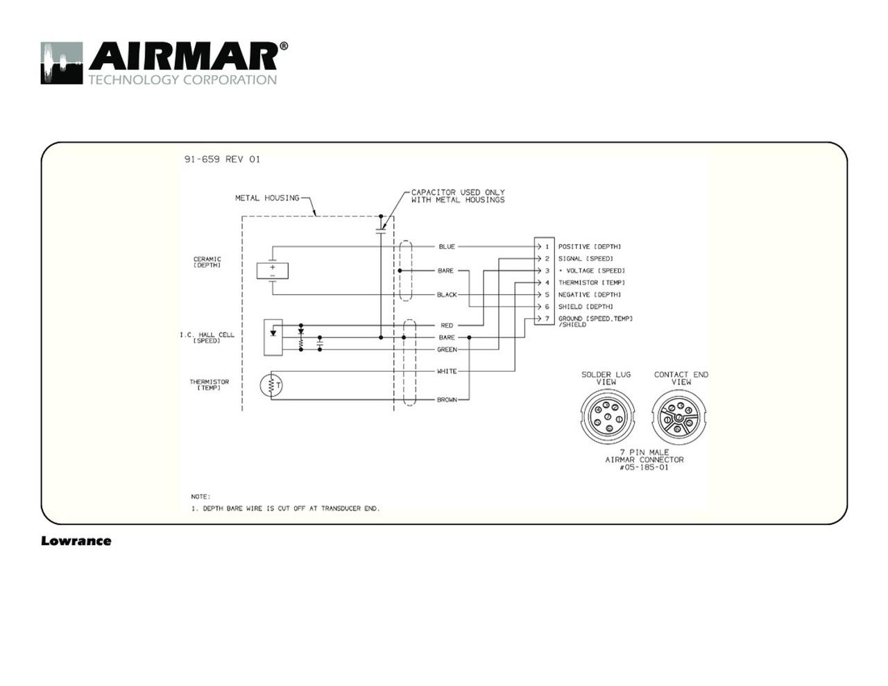 airmar wiring diagram lowrance 7 pin d s t blue bottle marinedepth [ 1100 x 850 Pixel ]