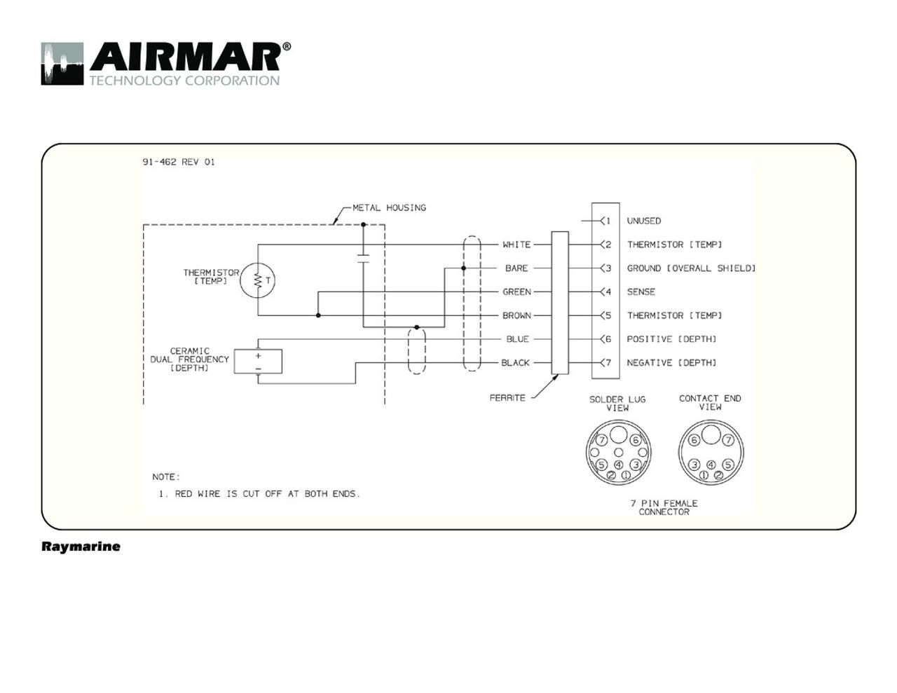 medium resolution of raymarine wiring diagrams wiring diagram airmar wiring diagram raymarine 7 pin d t