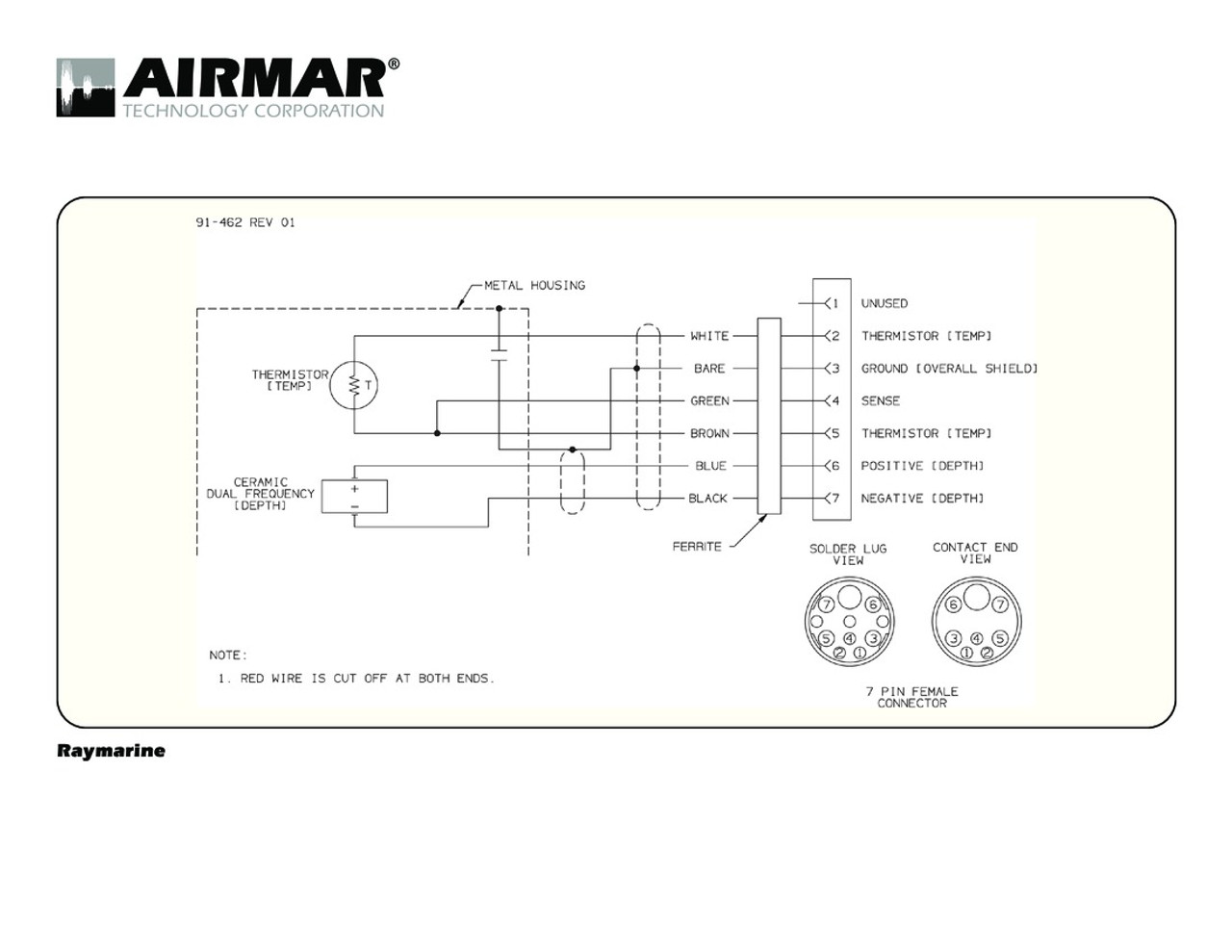 hight resolution of raymarine wiring diagrams wiring diagram airmar wiring diagram raymarine 7 pin d t