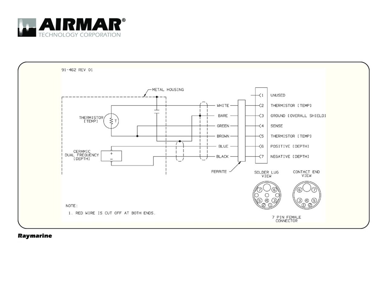 hight resolution of depth temperature transducers with raymarine 7 pin connector ray