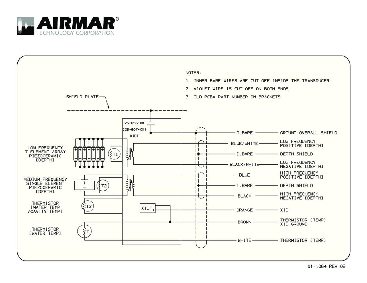 airmar wiring diagram tm265lm blue bottle marine airmar transducer wiring diagram tm265c lm with bare wire [ 1100 x 850 Pixel ]