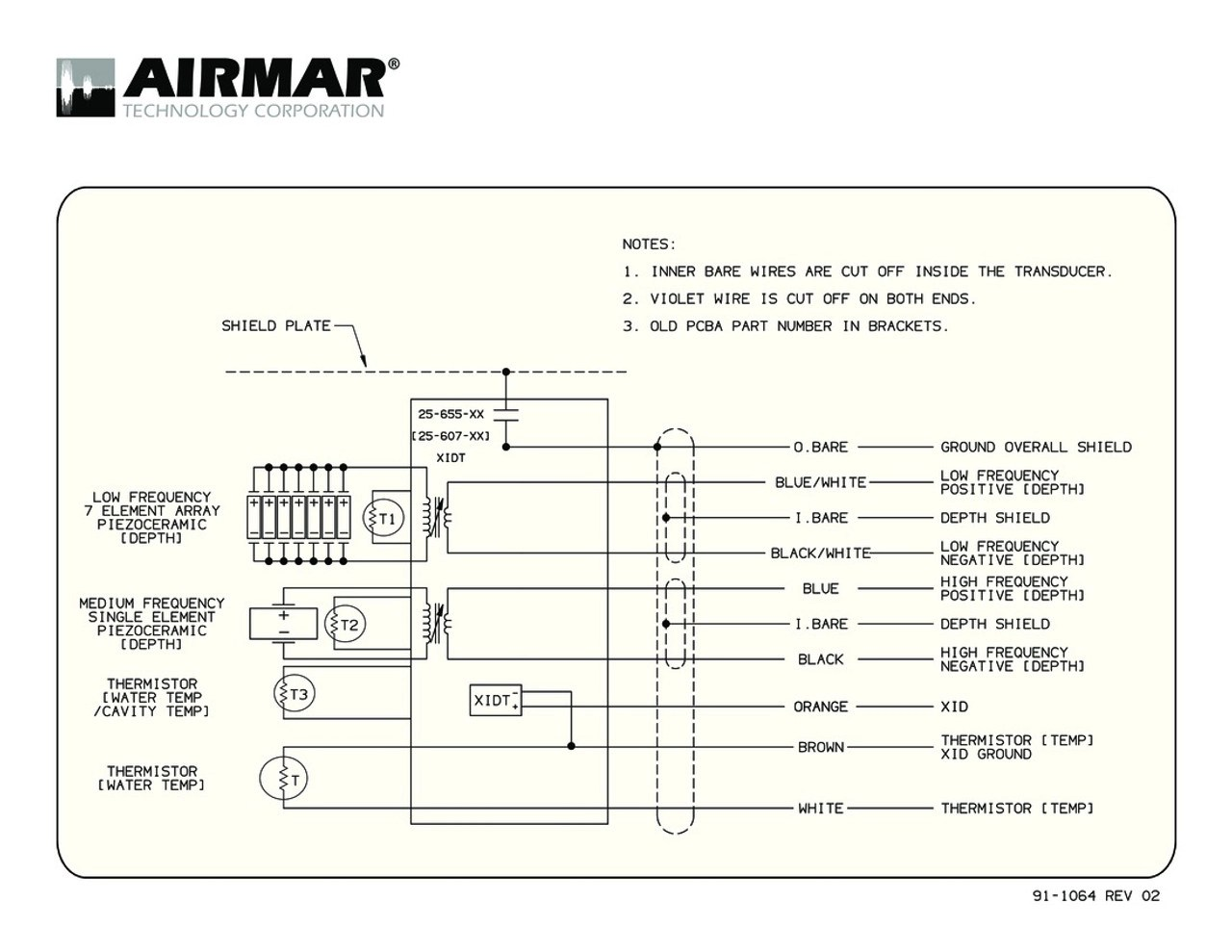 small resolution of airmar wiring diagram tm265lm blue bottle marine airmar transducer wiring diagram tm265c lm with bare wire