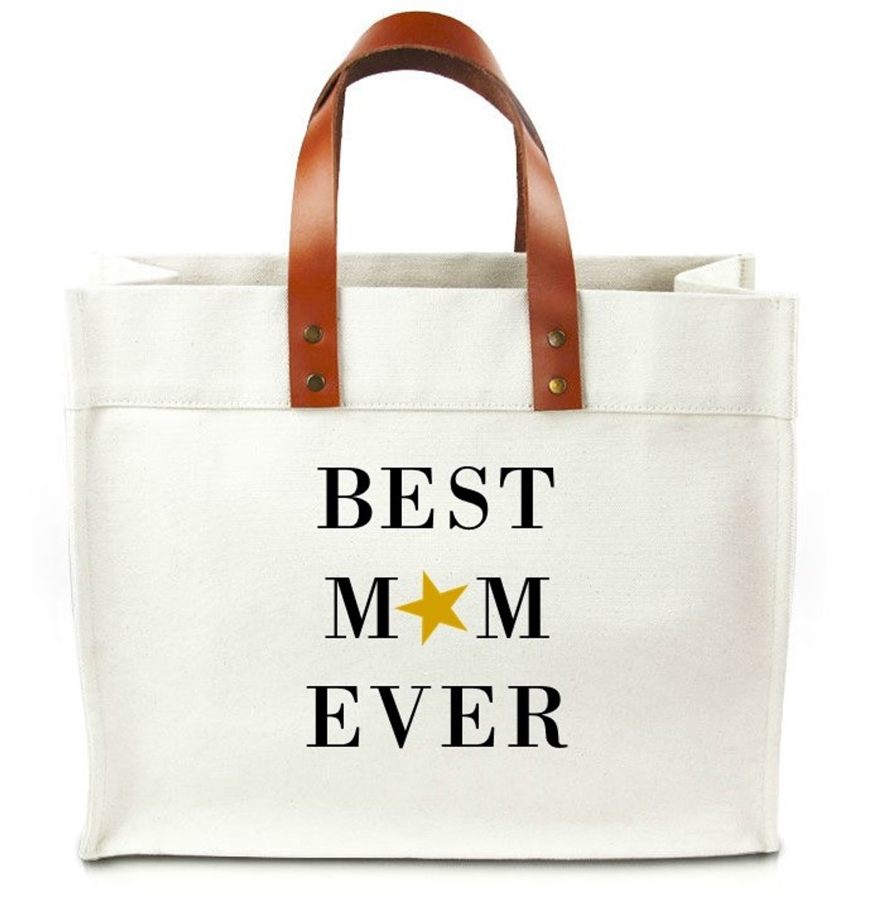 best mom ever canvas