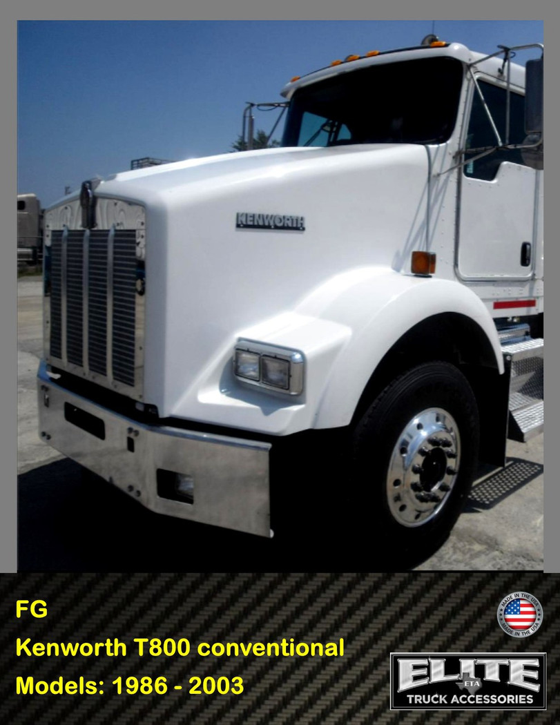 hight resolution of  kenworth bumper t800 conventional 1986 2003