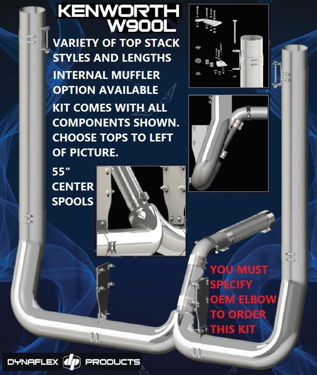 kenworth w900l w 40 step 7 full diameter exhaust kit