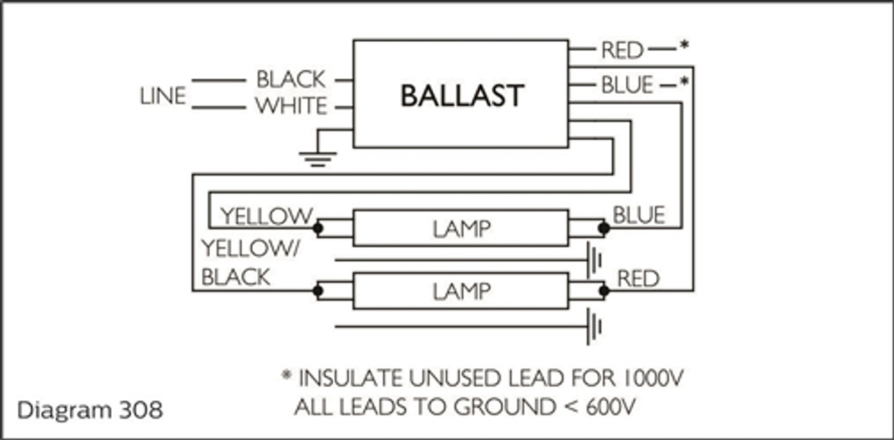 medium resolution of  advance isb 0432 14 e 120v to 277v fluorescent ballast 1