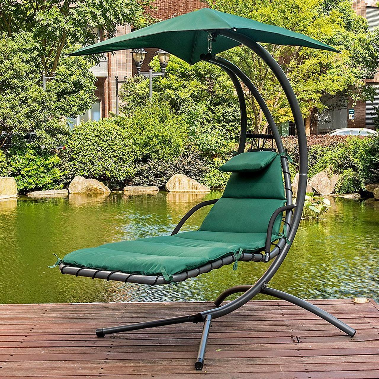 outdoor dream chair gym plus de 50 dark green lazy daze hammocks with umbrella hanging chaise lounge arc curved hammock