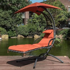 Outdoor Dream Chair Fishing Side Table Brick Red Lazy Daze Hammocks With Umbrella Hanging Chaise Lounge Arc Curved Hammock