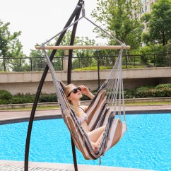 Swing Chair Seat Used Leather Club Chairs For Sale Canvas Hanging Hammock With Wood Spreader Bar And Lazy Daze Hammocks Desert Stripe