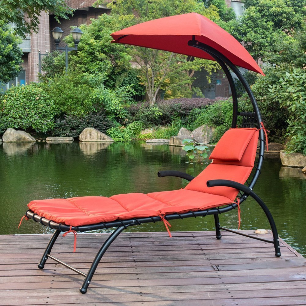 chair with shade canopy travel high tray patio dream chaise lounger sun sundale outdoor