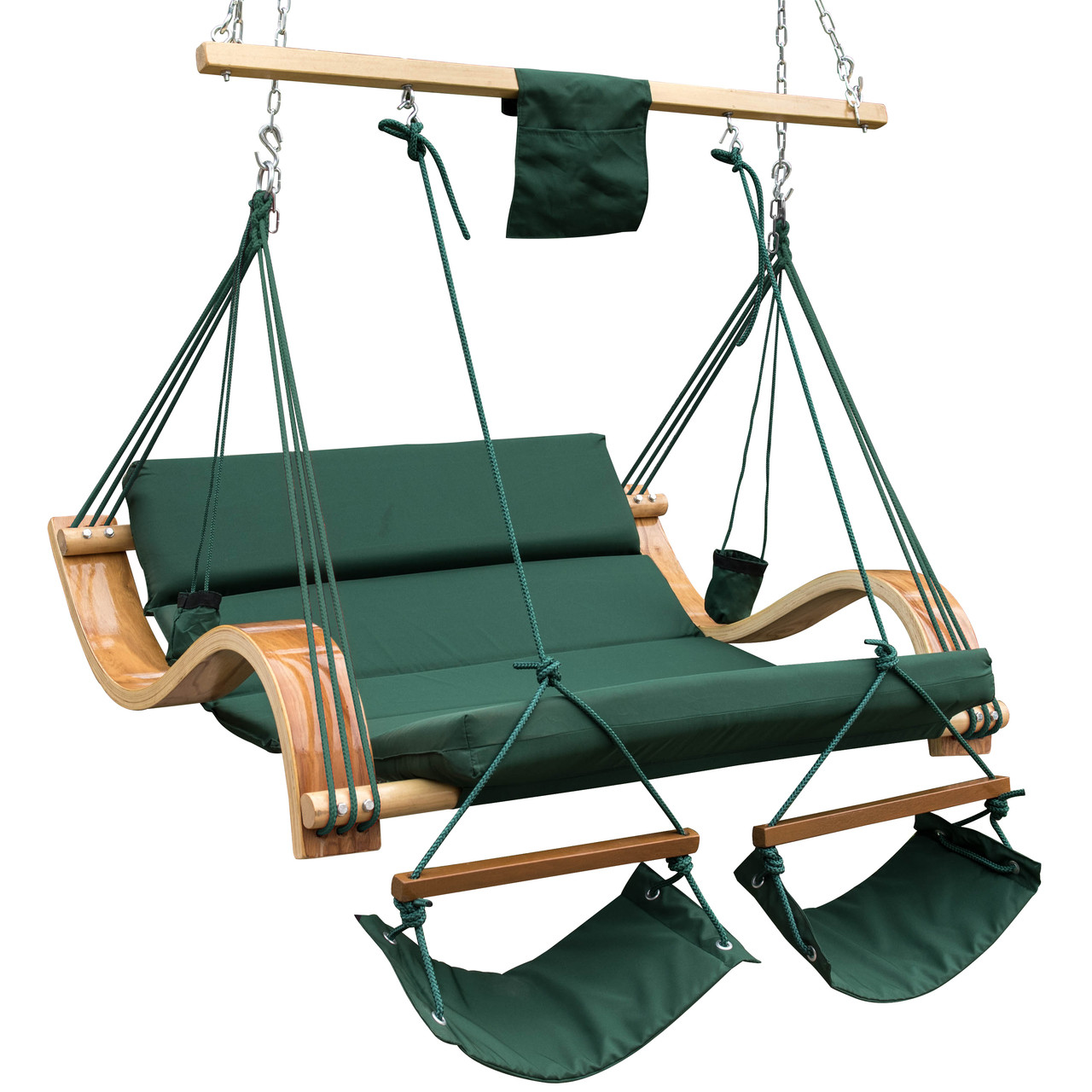 rope chair swing sofa loveseat and set deluxe oversized double hanging cotton padded lazy daze hammocks wood arc hammock