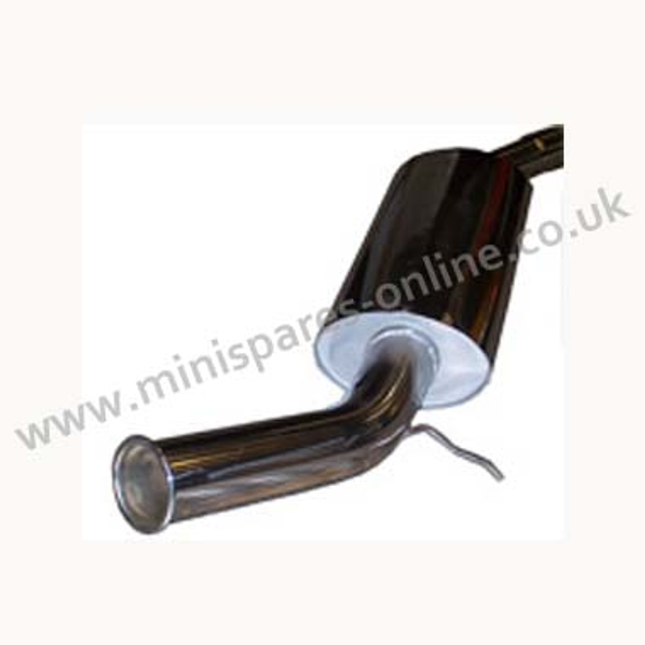 stainless steel fletcher side exit exhaust big bore 2 for classic mini