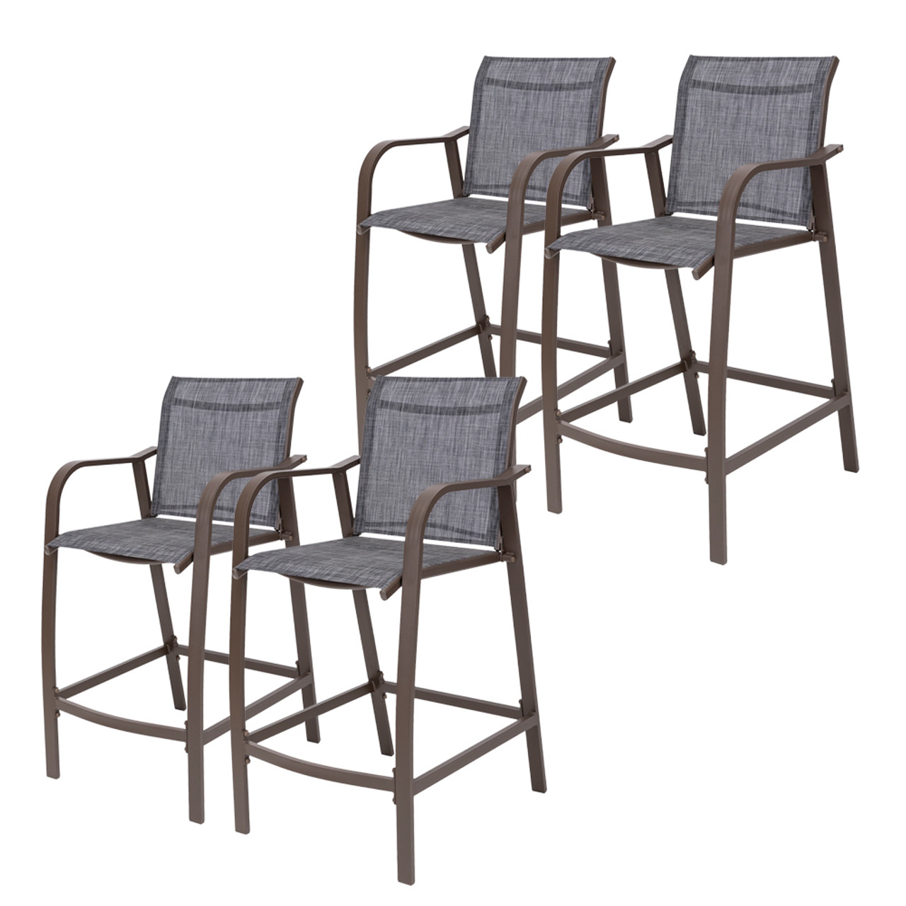 crestlive products 4 piece counter height bar stools all weather patio furniture