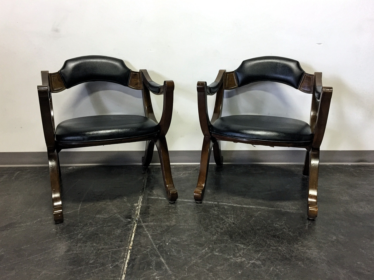 drexel heritage chairs metal stool chair cushion sold out mid century era esperanto x frame pair 1