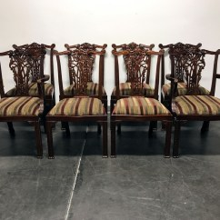 Chippendale Dining Chair Bungee Target Pink Sold Out Maitland Smith Mahogany Chairs Set Of 8