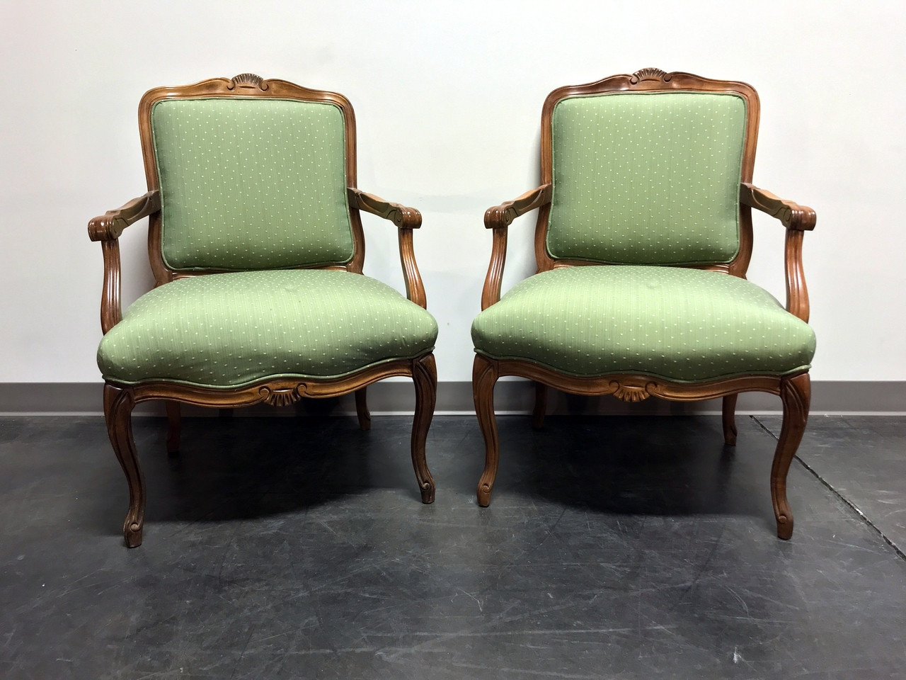 Sam Moore Chairs Vintage French Provincial Louis Xv Style Bergere Arm Chairs By Sam Moore Pair