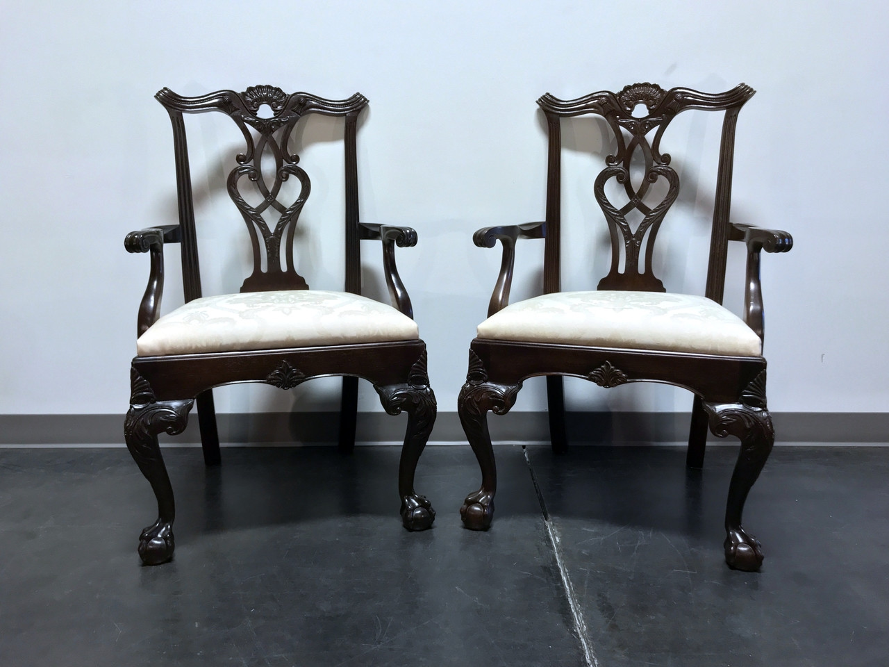 Henredon Chair Sold Out Henredon Rittenhouse Square Mahogany Chippendale Ball In Claw Dining Arm Chairs Pair