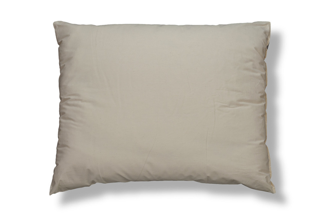 wool filled bed pillows with organic cotton cover