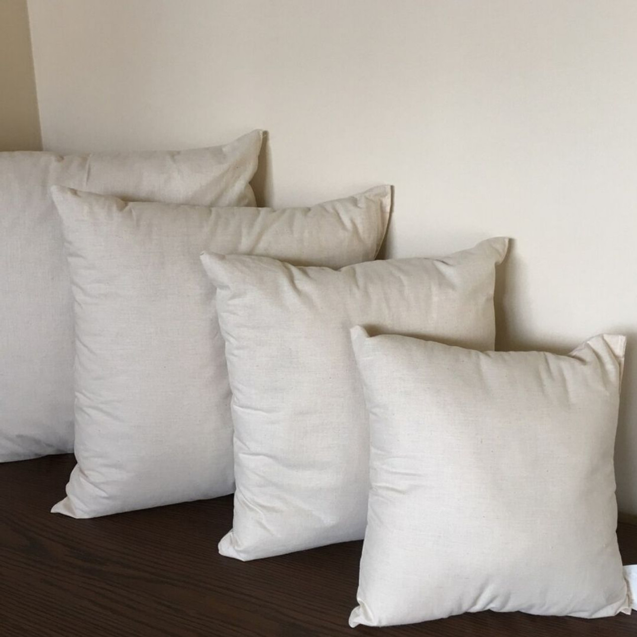 wool filled pillow inserts with organic cotton cover