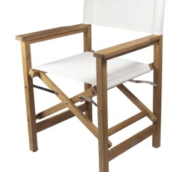 Directors Chair White Cheap Cover Hire Brisbane Buy Seateak Folding Director S In Blue Durasling Fabric Teak Available