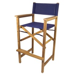 Captains Chair Elderly Chairs Teak Captain S Available In Blue Or White Durasling Fabric