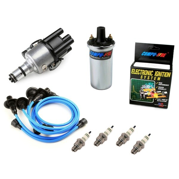 small resolution of vw bug ignition kit 009 distributor w compufire 12v compufire coil blue wires