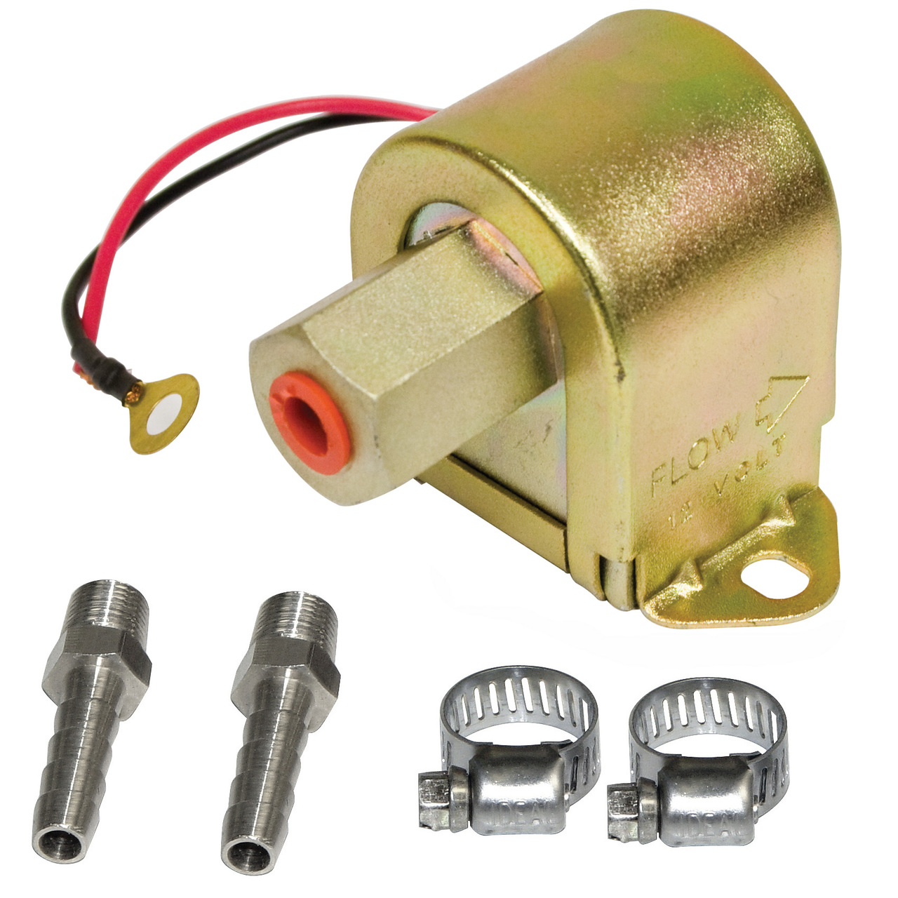 medium resolution of empi 41 2510 8 universal electric fuel pump 1 5 4 psi includes clamps fittings
