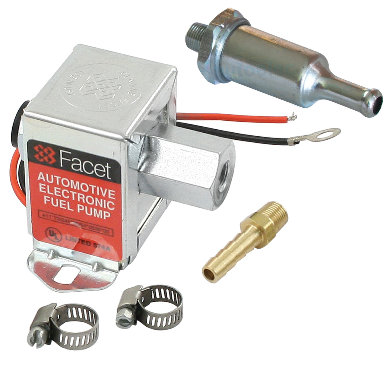 hight resolution of facet fep42sv cube electric fuel pump 1 5 4 psi includes clamps fittings filter