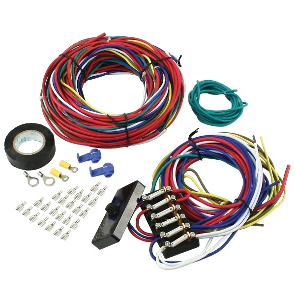 hight resolution of vw dune buggy manx sand rail baja universal wiring harness with fuse box