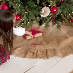 Burlap Ruffle Christmas Tree Skirt Studio 360 Apparel Tees More
