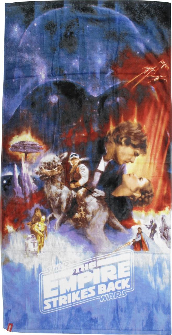 star wars empire strikes back poster towel