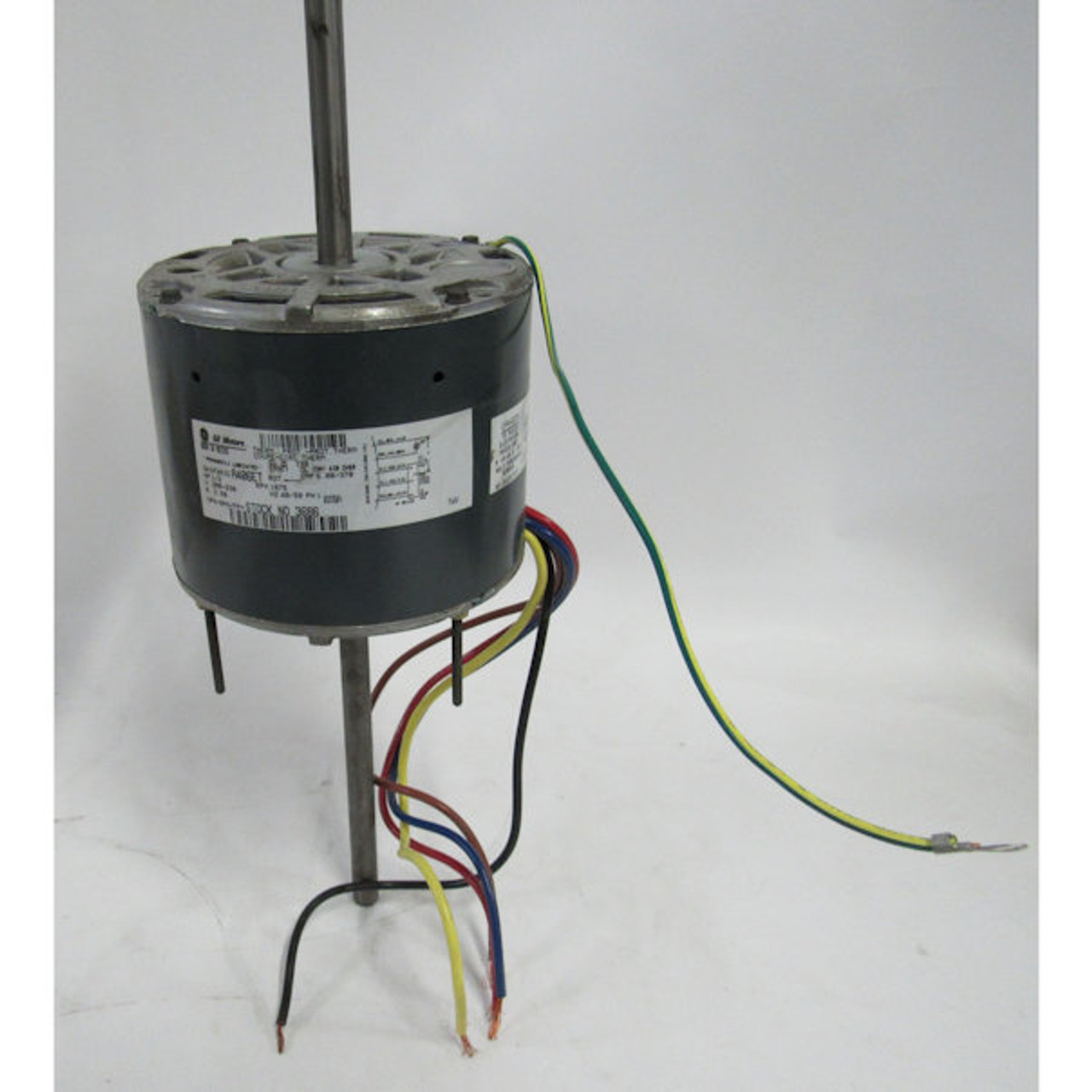 medium resolution of ge 3686 1 3 hp 208 230 volt 1075 rpm permanent split capacitor