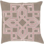 20 Lavish Labyrinth Light Blush Pink Brown Decorative Square Throw Pillow Down Filler Christmas Central