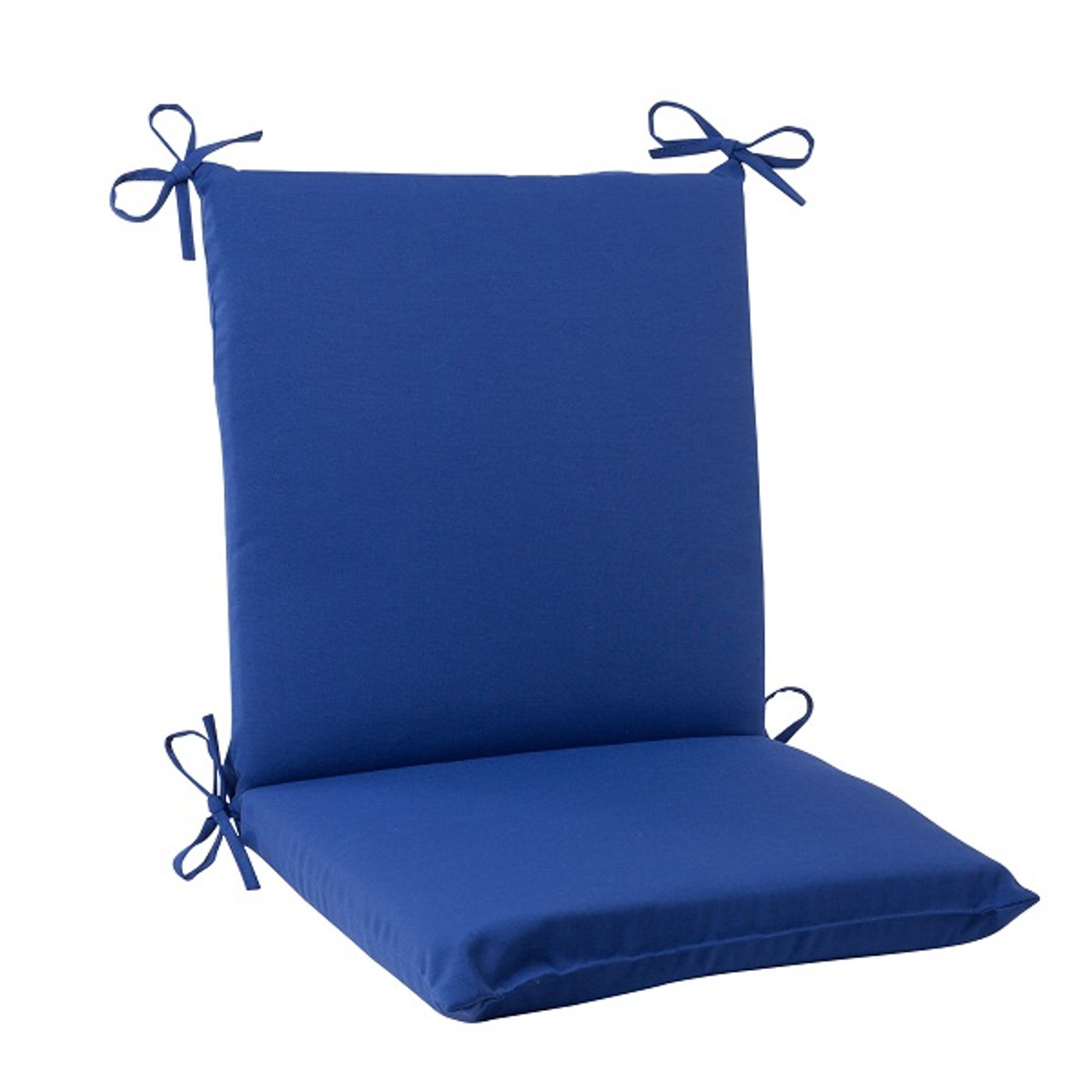 36 5 navy blue solid outdoor patio square edged chair cushion